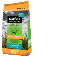 Nativia Adult Maxi Lamb & Rice 15kg + dostawa gratis