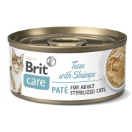 Brit Care Cat con Paté Sterilised Tuńczyk & Krewetki 70g