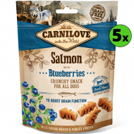 Carnilove Dog Crunchy Snack Salmon & Blueberries 5 x 200g