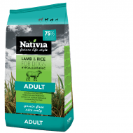 Nativia Dog Adult Lamb&Rice 15kg + dostawa gratis